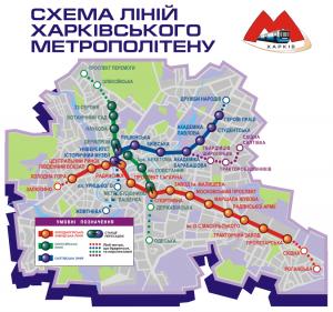 Схема Харьковского метрополитена
