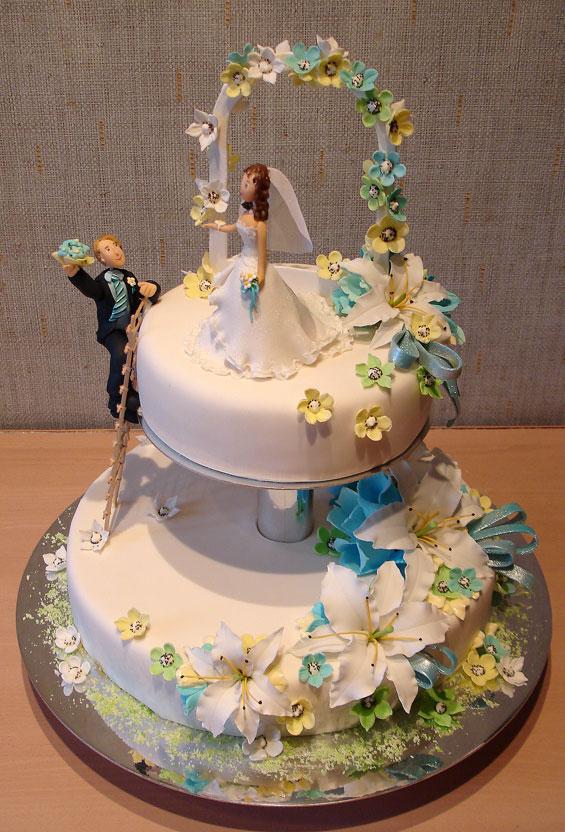 """Продолжаем тему тортов серия  """"Свадебные торты """" - 80 фото.  Раздел."""