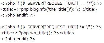 Title Code WordPress
