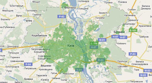 Киев 4G покрытие интернет