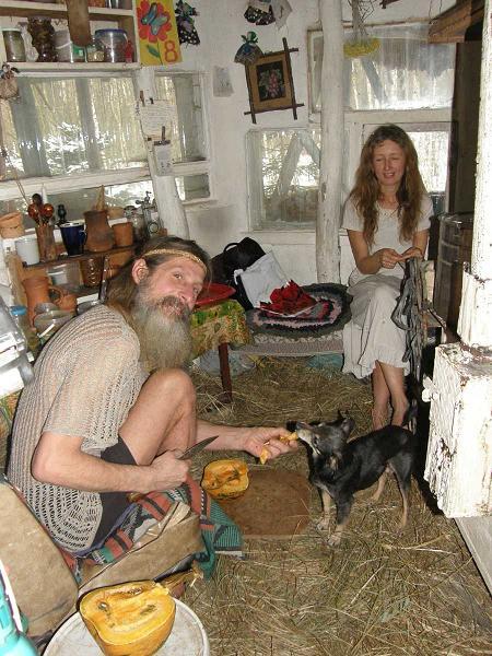 Муж и жена в хатыне