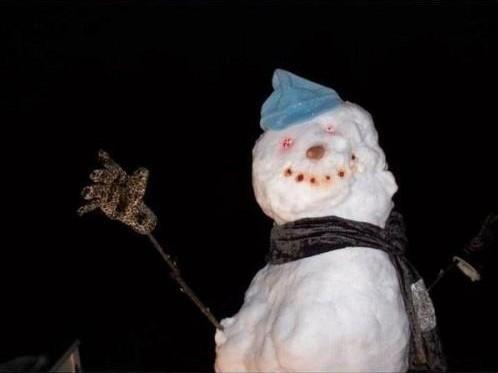 Необычный снеговик 2
