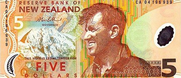 Новая Зеландия — 5 новозеландских долларов