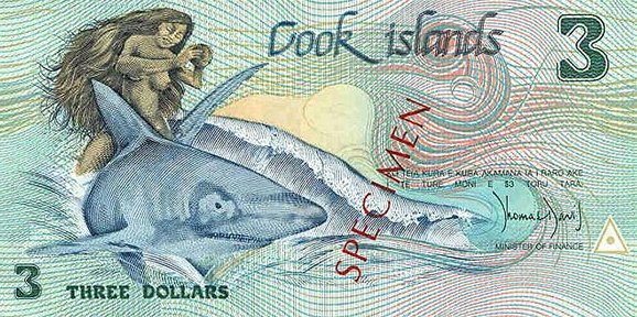 Острова Кука — 3 доллара Островов Кука