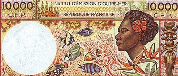 Французская Полинезия — 10 000 французских франков
