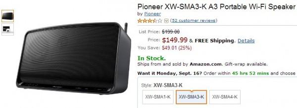 Pioneer XW-SMA3-K Amazon