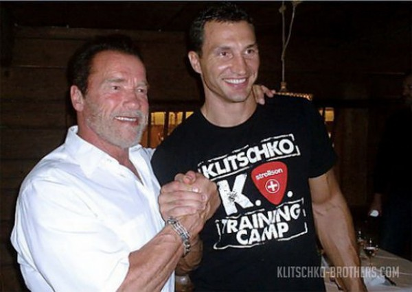 Кличко и Шварцнеггер вместе