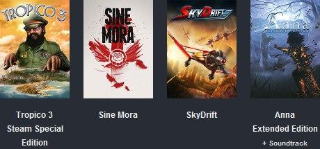 подарю ключ к играм Tropico 3 Sine Mora SkyDrift Anna