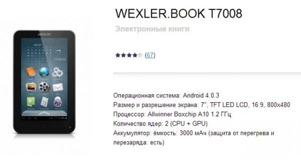Wexler Book T7008