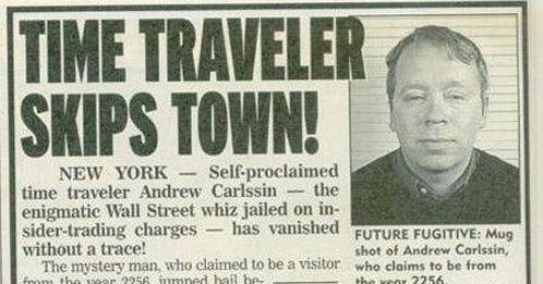 Andrew Carlssin time traveller trader