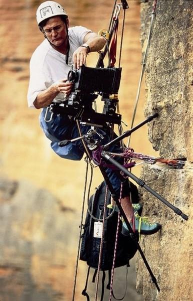 Неугомонный фотограф-скалолаз