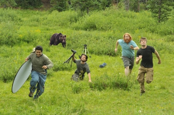 От медведя по-идее тяжело убежать