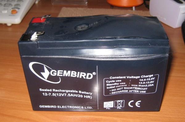 Вздулась батарея Gembird