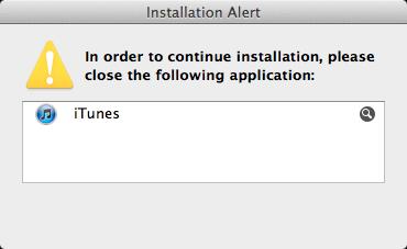 xcode installation alert