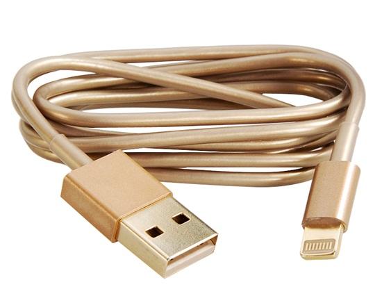 золотой кабель для зарядки iPhone