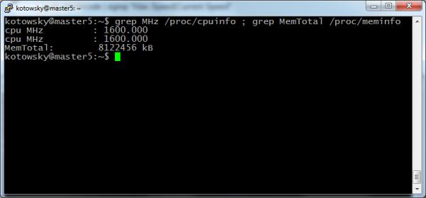 cpu MHz 1600 Debian