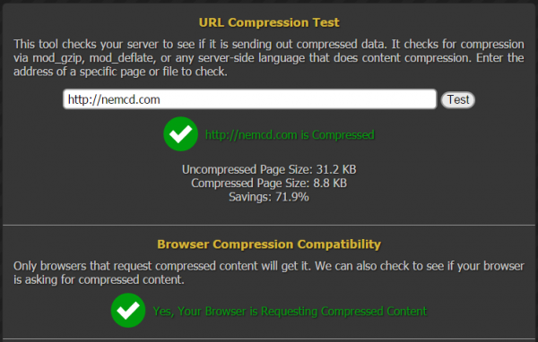 test compress content nemcd