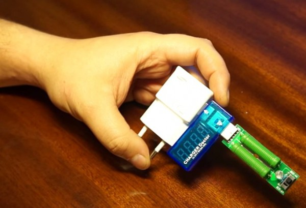 USB нагрузка и вольтметр