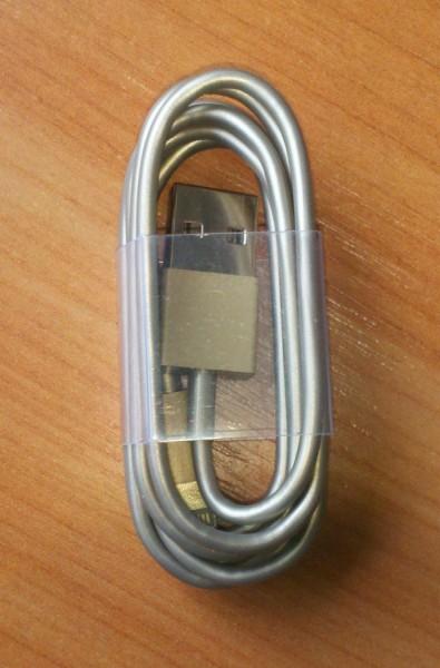 почти золотой кабель iphone-6