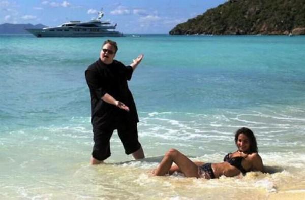 Kim Dotcom на пляже
