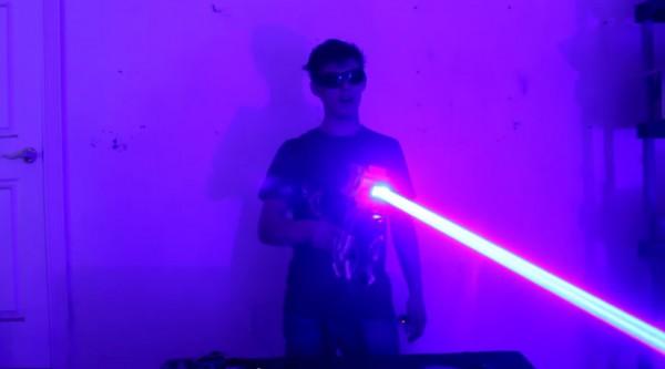 laser gun, лазерная пушка 40 Вт