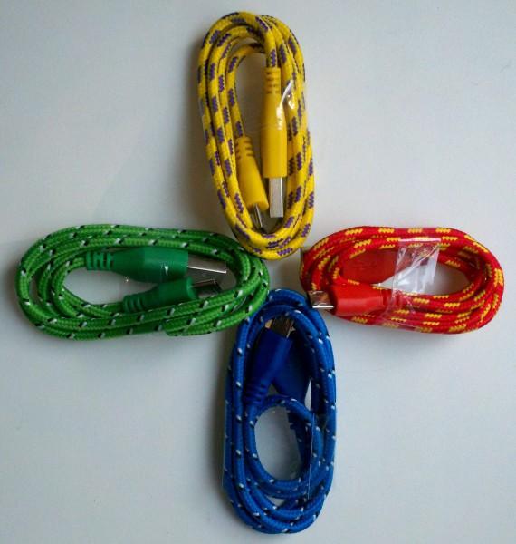 цветные кабели microusb china