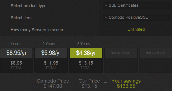 ssl low price 3 years