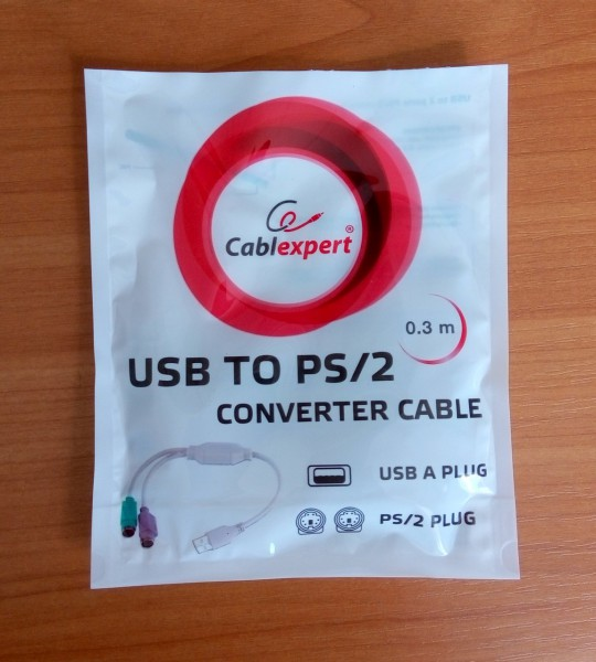 cablexpert usb to ps/2 converter упаковка