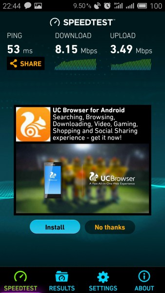 Vodafone 3G Kharkov test speed, замер скорости 3Ж МТС Харьков