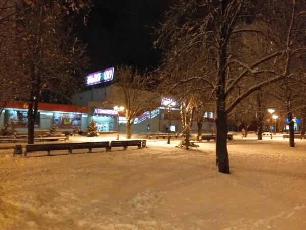 зимний сквер на 23 августа Харьков