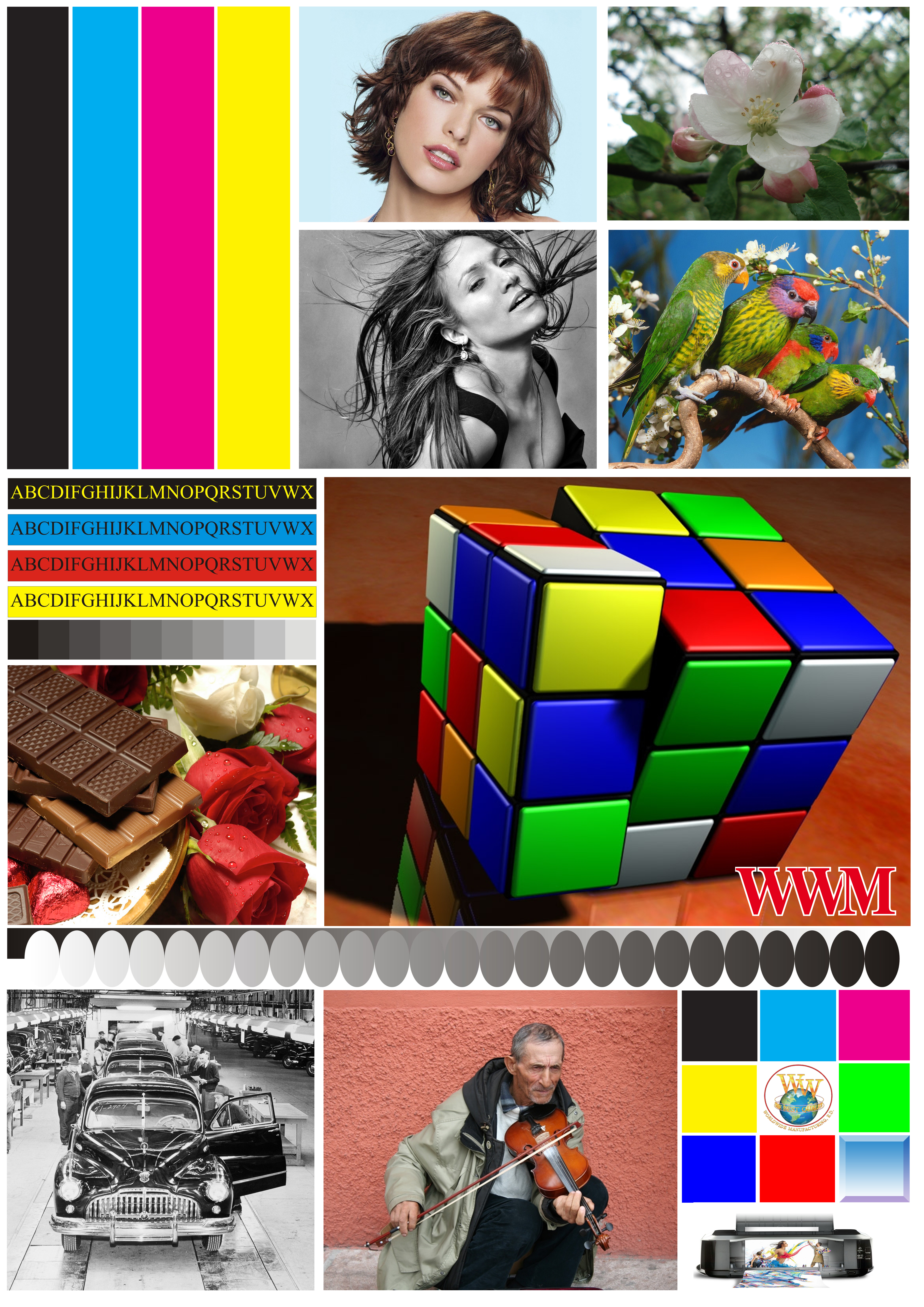 тестовая картинка для цветного струйного принтера воздуха подходит обычная