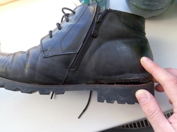 у ботинка отваливается бодошва