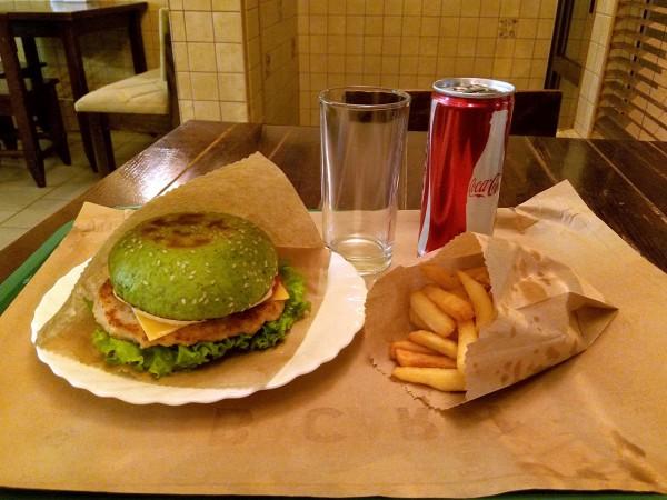 green burger, зеленый бургер в Харькове