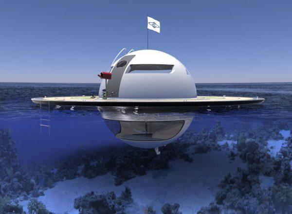 концепт плавающего дома