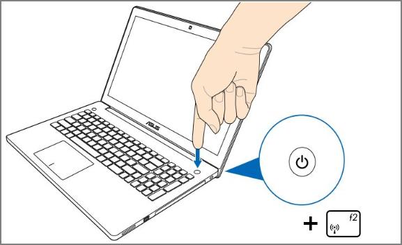 Нажмите и удерживайте клавишу F2 во время включения ноутбука.