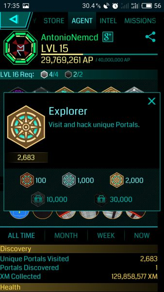 ingress explorer медаль