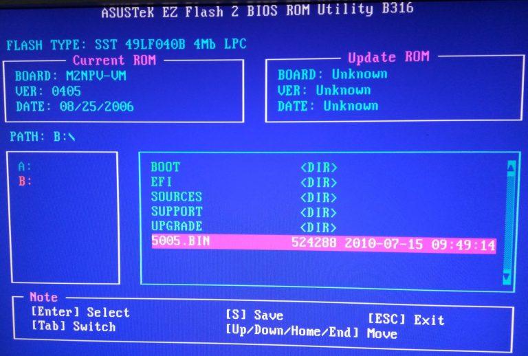 Asus EZ Flash 2 инструкция на русском