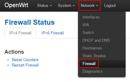 openwrt network firewall