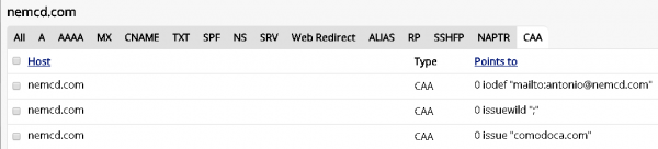 DNS CAA SSL