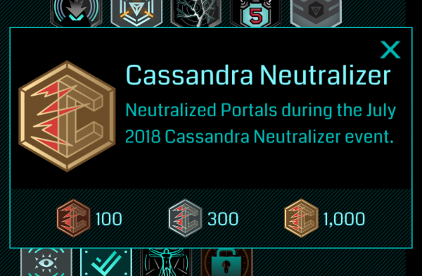 Cassandra Neutralizer Gold medal