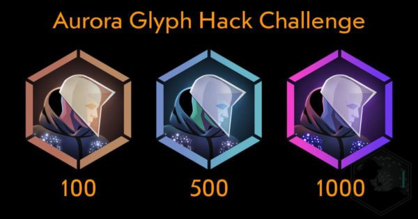 aurora glyph hack challange medal