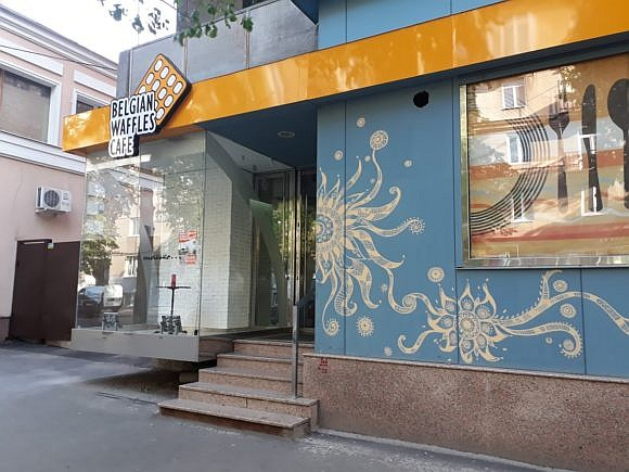 belgian waffles cafe, кафе Бельгийский Вафли на Гиршмана Харьков