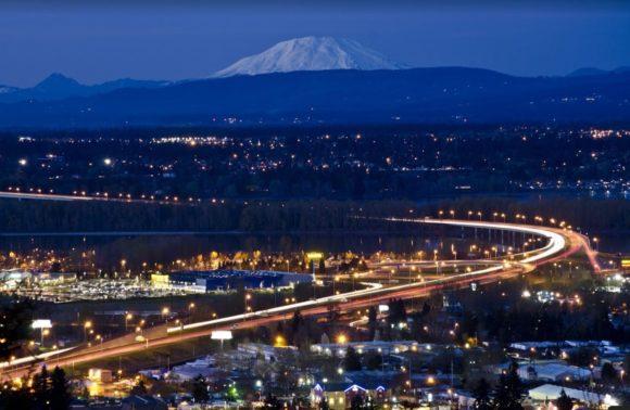 ночной Portland Oregon