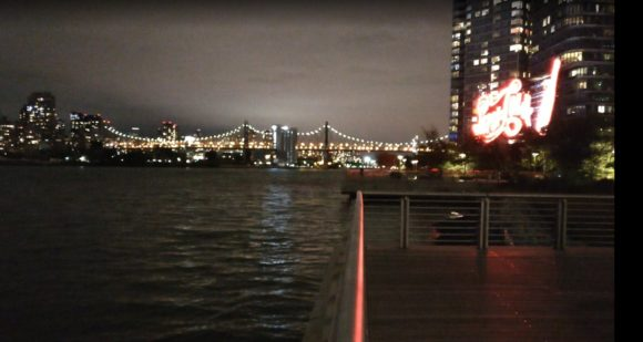 New-York Queens ночной вид на мост Мост Куинсборо Ed Koch Queensboro Bridge