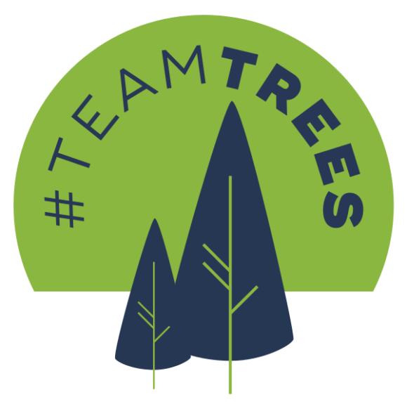 team trees logo, блогеры садят деревья