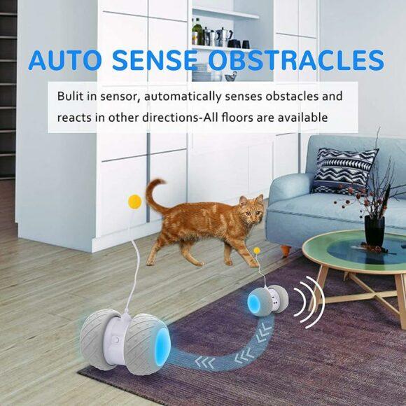 cat robot toy, встроенный датчик видит препятствия
