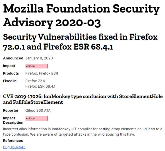 firefox bug security