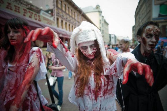 zombi parad 2010, зомби парад в Москве