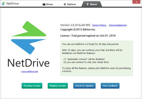 netdrive app, программа для подключения FTP, SFTP в виде диска