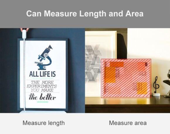 можно измерить площадь поверхности